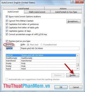 Vào thẻ File - Option