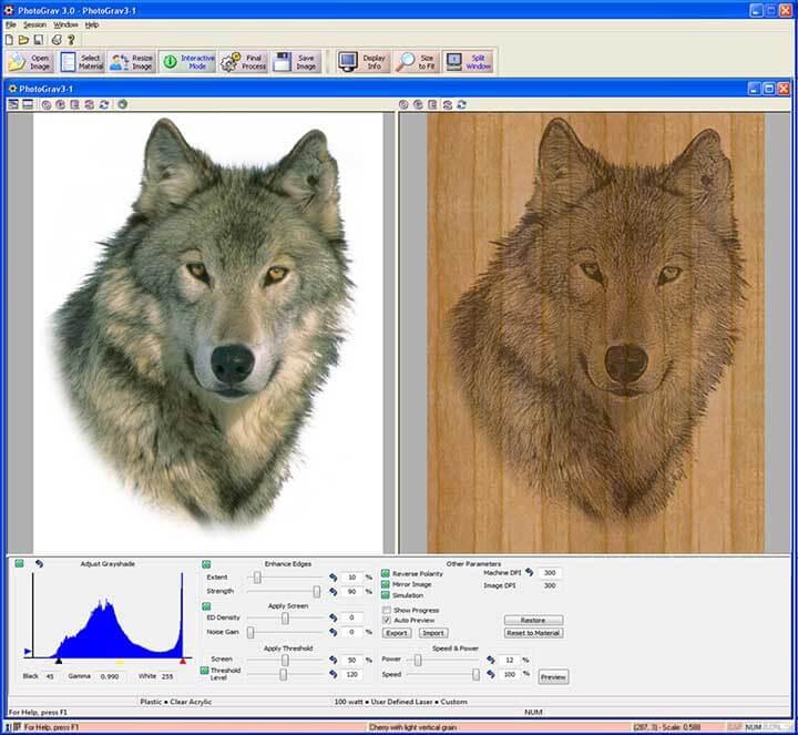 Phần mềm khắc laser PhotoGrav2